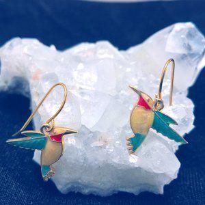 Garden Fun Hummingbird Earrings